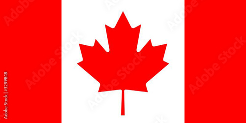 Fotografia drapeau canada