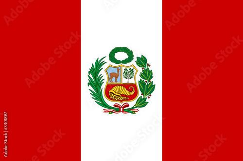 Photo  drapeau perou