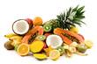 canvas print picture - tropical fruits