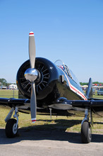 Front View Of Retro Airplane
