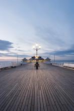 Wide Angle Shot Of Cromer Pier.
