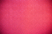 Red Textile Drapery.