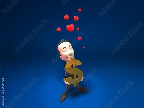Foto op Plexiglas Hemel business man aime l'argent