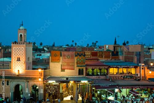 Foto auf Acrylglas Marokko djema el fna night view form the cafe glacier