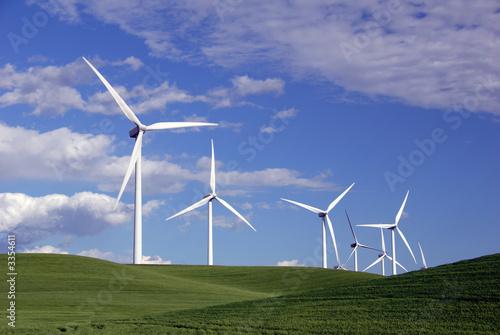 Fotografie, Obraz  power generating windmills