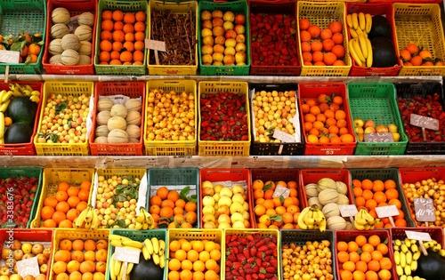 Poster Fruit etal de fruits et légumes