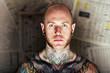 Leinwandbild Motiv tattoo man
