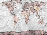 global map parched earth