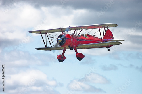 Fototapeta red stearman