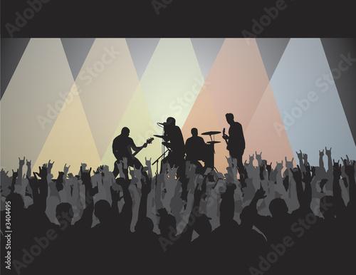 Vászonkép rock concert v