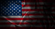 canvas print picture silk american flag