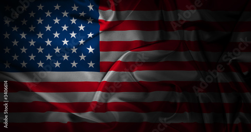 Fototapeta silk american flag