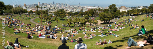 Deurstickers San Francisco dolores park