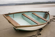 Beached Boat At Arnside