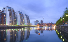Salford Quays At Dusk