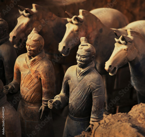 Foto op Plexiglas Xian warriors and horses
