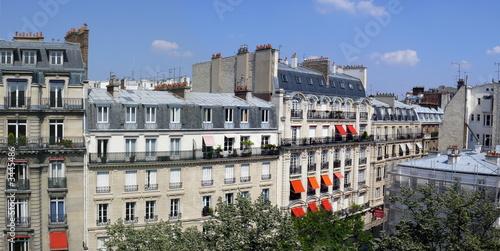 Fotografie, Obraz  rue parisienne ensoleillée, paris xvii