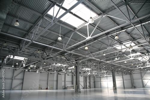 Poster Aeroport hangar warehouse