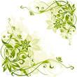 Leinwandbild Motiv floral background