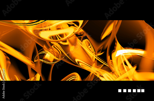 golden abstract rendering