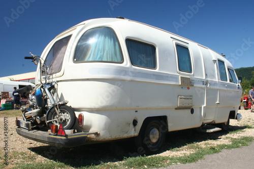 oldtimer caravan Fototapete