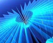 Blue Fan 1