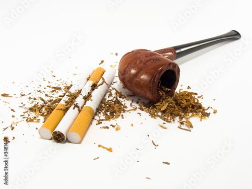 Cuadros en Lienzo cigarette pipe and tobacco