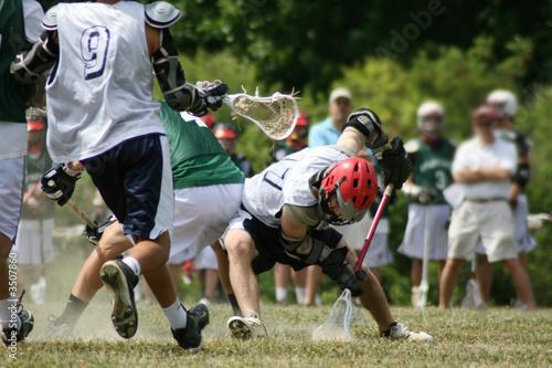 Fotografie, Tablou  lacrosse game face off
