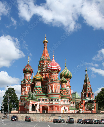 Wall Murals Moscow st basil's cathedral on the red square, moscow, russia