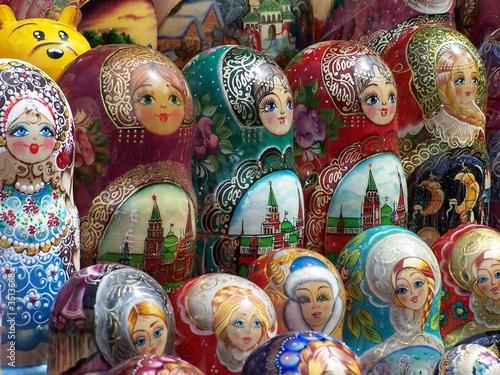 Foto op Canvas Moskou bunte matruschkas