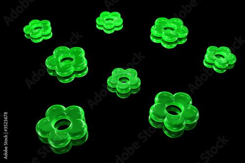 Fototapety One Color kamien-kwiat-zielony-czarny-tlo