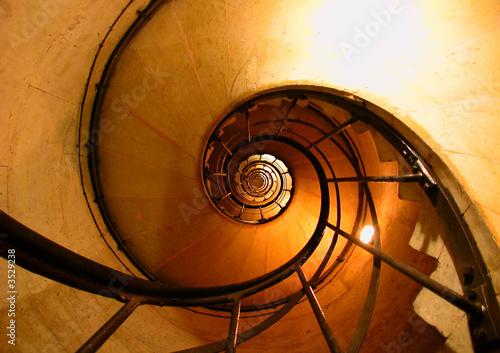 circular staircase Canvas Print