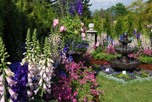 Flower garden Fototapeta