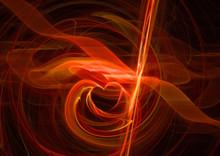 Heart Fractal Background