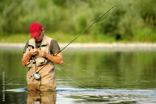 Tuinposter Vissen Fly fishing