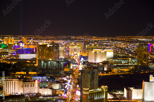 Las Vegas, Nevada, at night in USA Poster