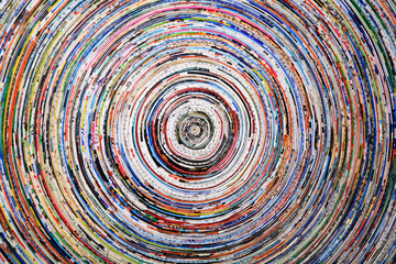 Fototapetabackground of a colorful spiral of wrapped paper