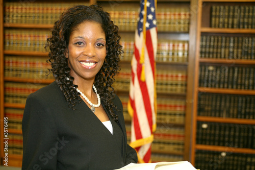 Young African American Lawyer Canvas-taulu