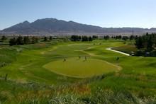 Golf Course In Desert