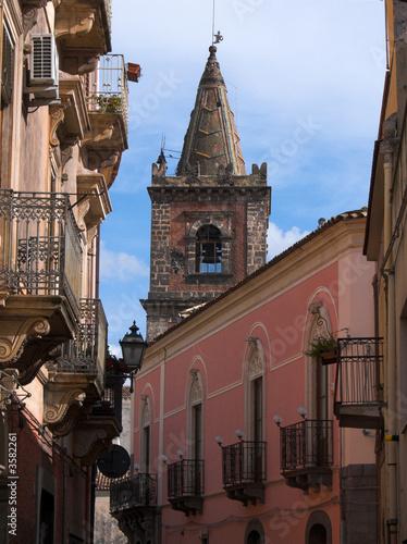 Fényképezés  Adrano il campanile di San Pietro