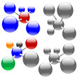 Clean, isolated molecules, or sets of networks & nodes.