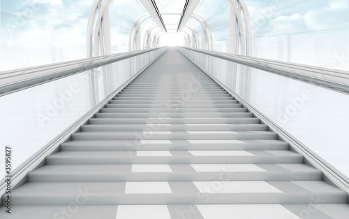 Foto op Canvas Trappen 3d stairs