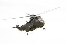 A Sea King Helicopter Against ...