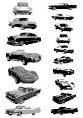 classic cars vector