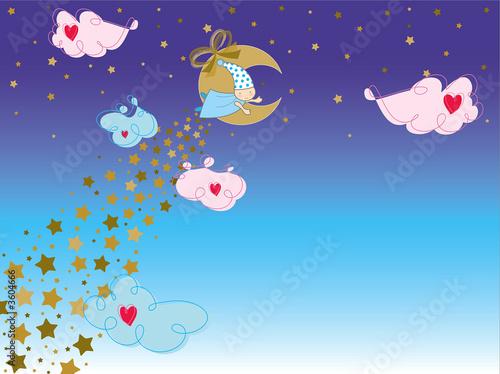 Tuinposter Vlinders bedtime story