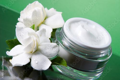 Fotografie, Obraz  Container of opened moisturizing face cream