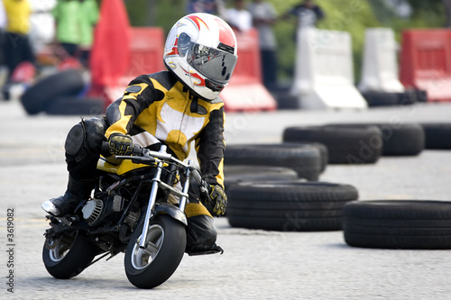 Cadres-photo bureau Motorise Pocket Bike Race