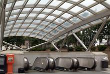 Entrance To A Metro Station In Washington DC