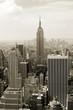 Manhattan panorama in sepia