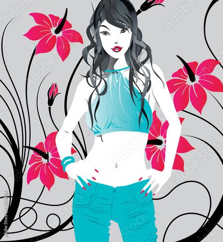 Floral femme Trendy Lady